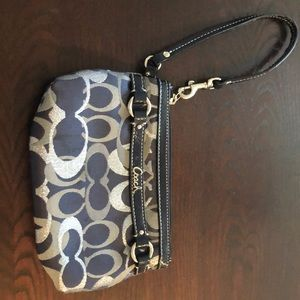 Authentic Coach Signature wristlet